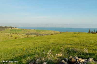 Le Mont des Béatitudes en Galilée
